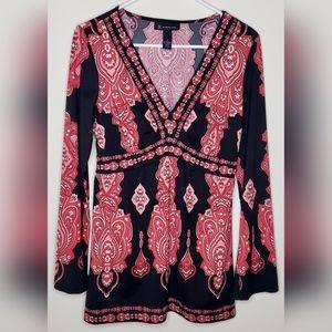 Inc International Concepts Tunic Blouse, Size M